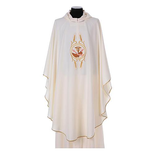 Casulla Franciscana 100% pol. manos de Francisco y Jesús 5
