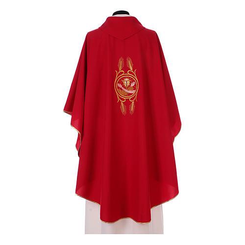 Casulla Franciscana 100% pol. manos de Francisco y Jesús 8