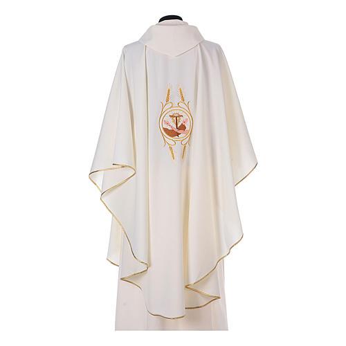 Casulla Franciscana 100% pol. manos de Francisco y Jesús 9