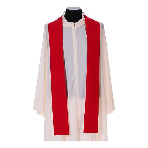 Casulla Franciscana 100% pol. manos de Francisco y Jesús 12