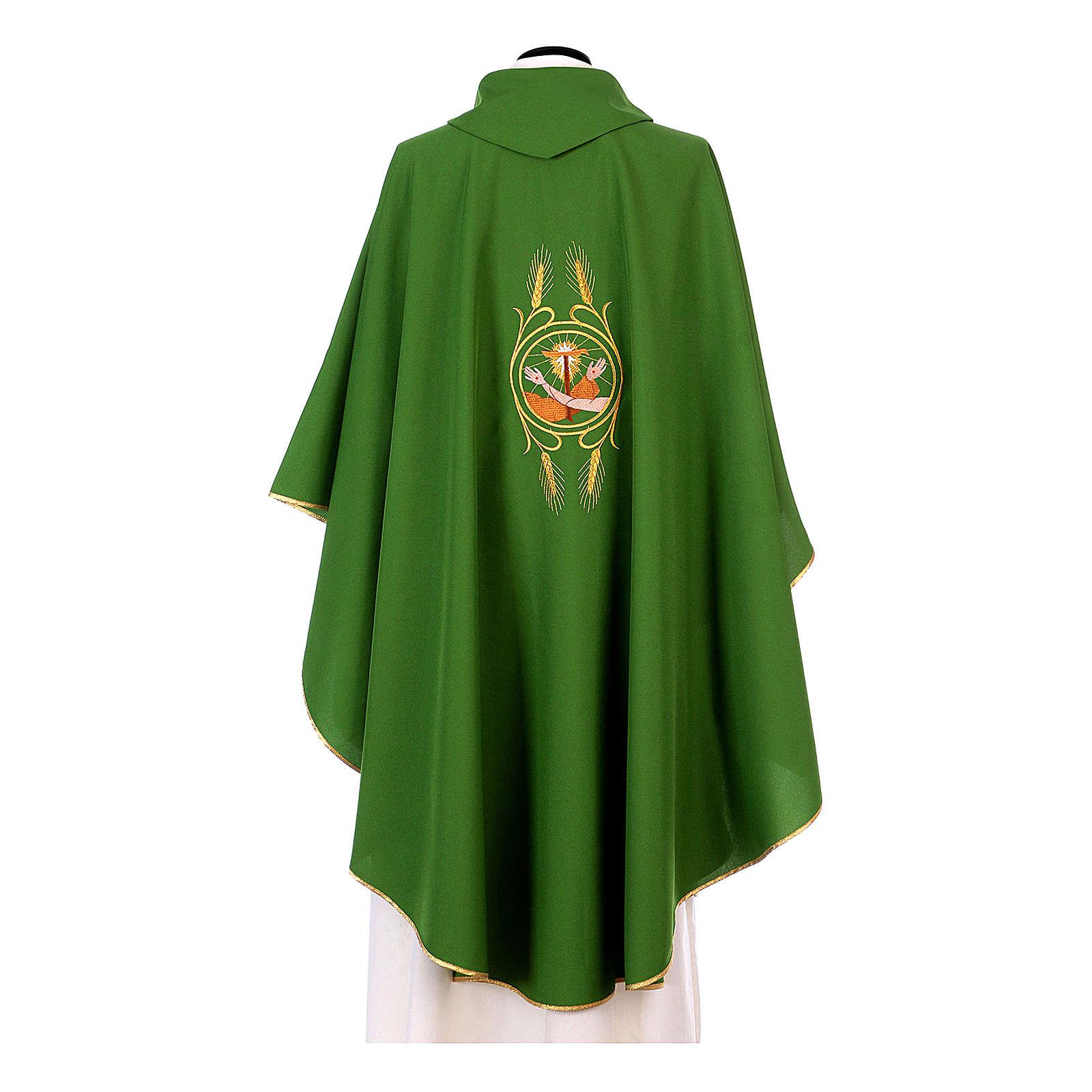 Casula francescana 100% poliestere mano di S.Francesco e Gesù 4
