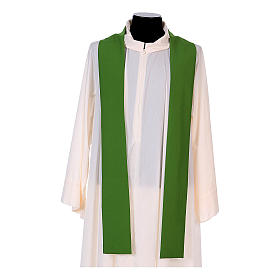 Franciscan Catholic Chasuble in polyester with Jesus and St.Francis hands s11