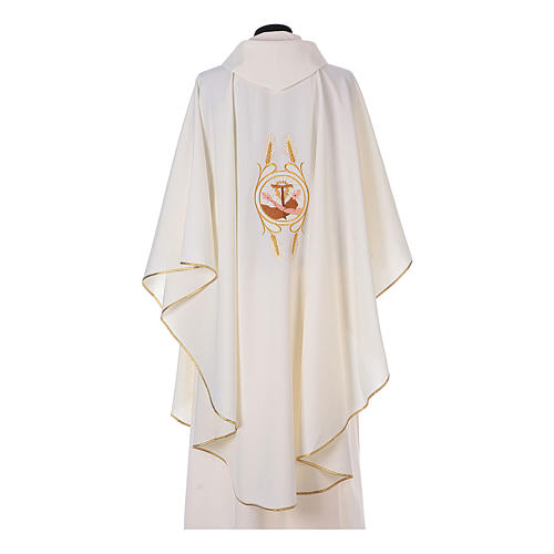 Franciscan Catholic Chasuble in polyester with Jesus and St.Francis hands 9