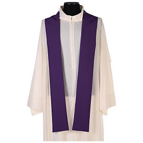 Chasuble in polyester with gold cross and wheat s6