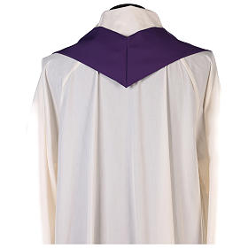 Chasuble in polyester with gold cross and wheat s7