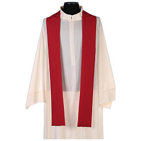 Chasuble in polyester with gold cross and wheat s12