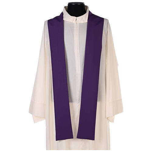 Chasuble in polyester with gold cross and wheat 6