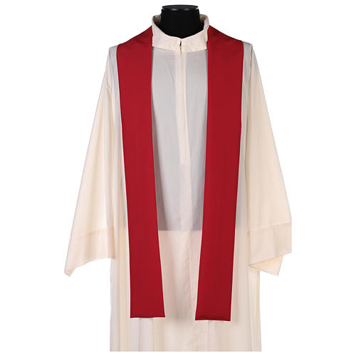 Chasuble in polyester with gold cross and wheat 12