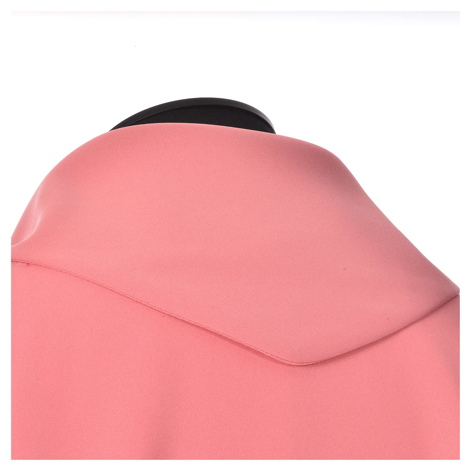 Pink Chasuble in polyester with Chi Rho and Loaves and Bread 4