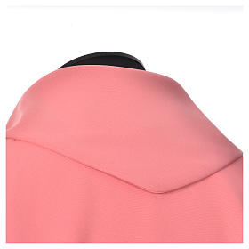 Pink Chasuble in polyester with Chi Rho and Loaves and Bread s4