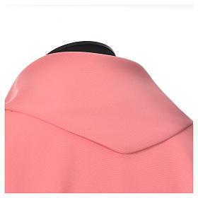 Casula cor-de-rosa 100% poliéster Chi-Rho pão e peixe s4