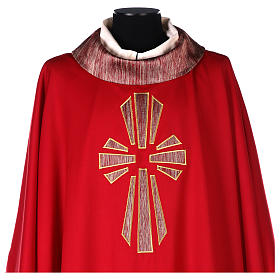 Chasuble in pure wool with silk cross embroidery s2