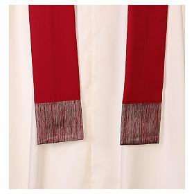 Casulla 100% lana, detalles en 100% seda cruz estilizada s6