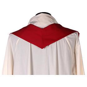 Casulla 100% lana, detalles en 100% seda cruz estilizada s7