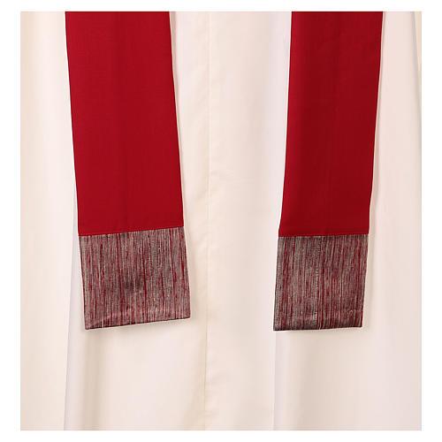 Casula 100% pura lã banda aplicada 100% seda cruz estilizada 6