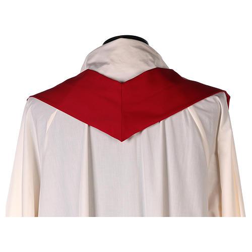 Casula 100% pura lã banda aplicada 100% seda cruz estilizada 7