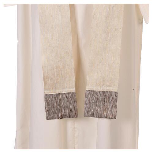 Casula 100% pura lana, riporto 100% seta, 10 vetri Murano 10