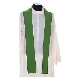 Chasuble in polyester with cross, lantern and wheat symbol s11