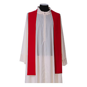 Chasuble in polyester with cross, lantern and wheat symbol s12