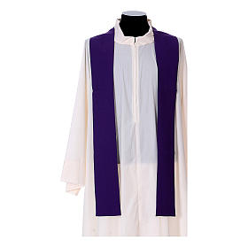 Chasuble in polyester with cross, lantern and wheat symbol s14