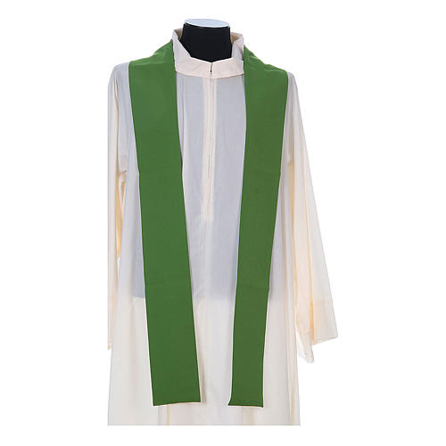 Chasuble in polyester with cross, lantern and wheat symbol 11