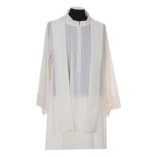 Chasuble in polyester with cross, lantern and wheat symbol 13