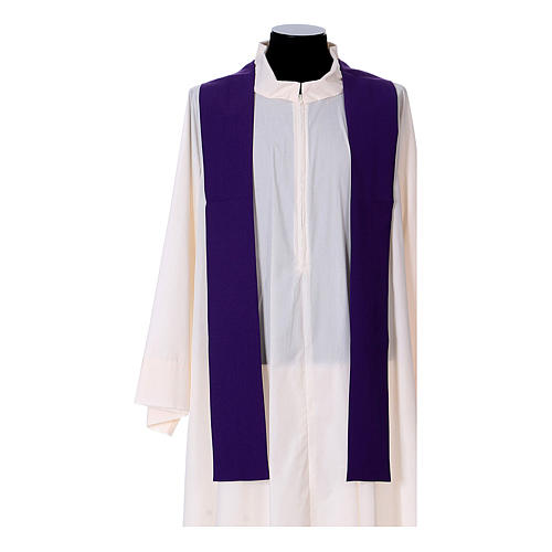 Chasuble in polyester with cross, lantern and wheat symbol 14