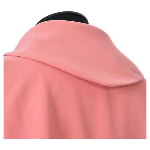 Casulla rosada poliéster cruz delicada espigas 5