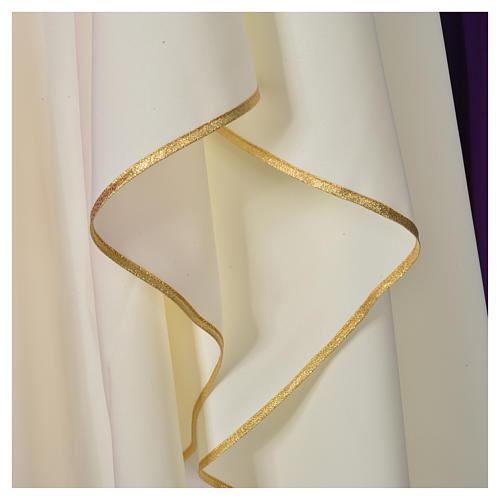 Chasuble liturgique croix dorée 100% polyester 3