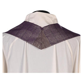 Chasuble in Tasmanian wool with double twisted yarn s7