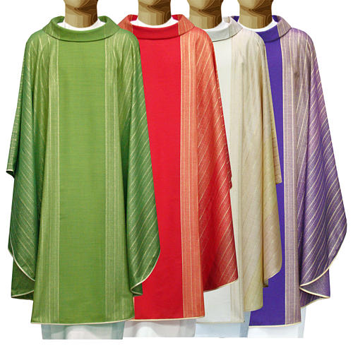 Chasuble in Tasmanian wool with double twisted yarn 1