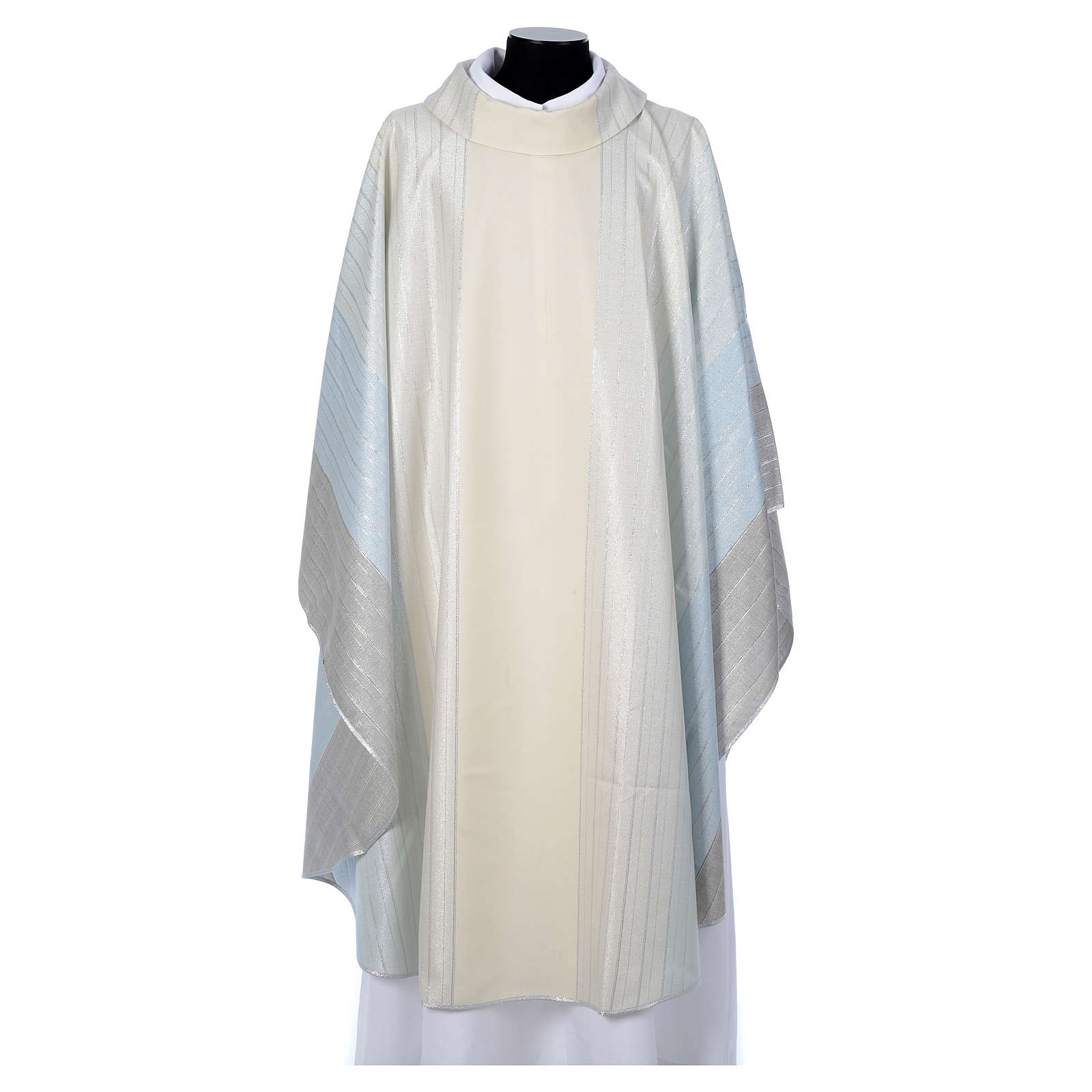 Blue Chasuble in pure Tasmanian wool with double twisted yarn 4