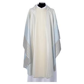Chasubles: Blue Chasuble in pure Tasmanian wool with double twisted yarn