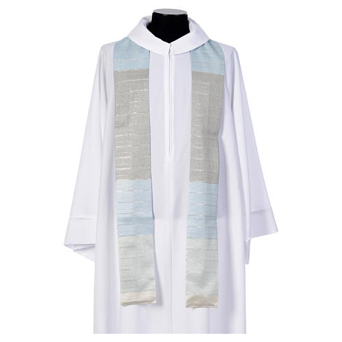Blue Chasuble in pure Tasmanian wool with double twisted yarn 5