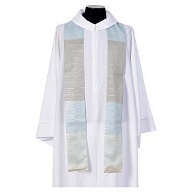 Blue Chasuble in pure Tasmanian wool with double twisted yarn s5