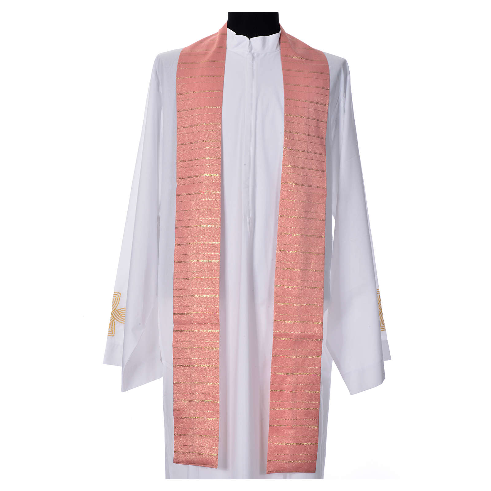 Pink Chasuble in pure Tasmanian wool with double twisted yarn 4
