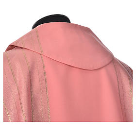 Pink Chasuble in pure Tasmanian wool with double twisted yarn s6