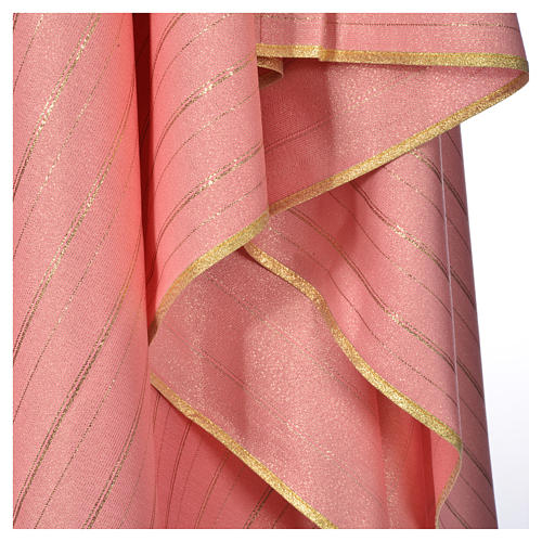 Pink Chasuble in pure Tasmanian wool with double twisted yarn 5