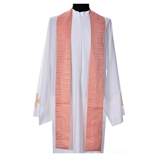 Pink Chasuble in pure Tasmanian wool with double twisted yarn 7