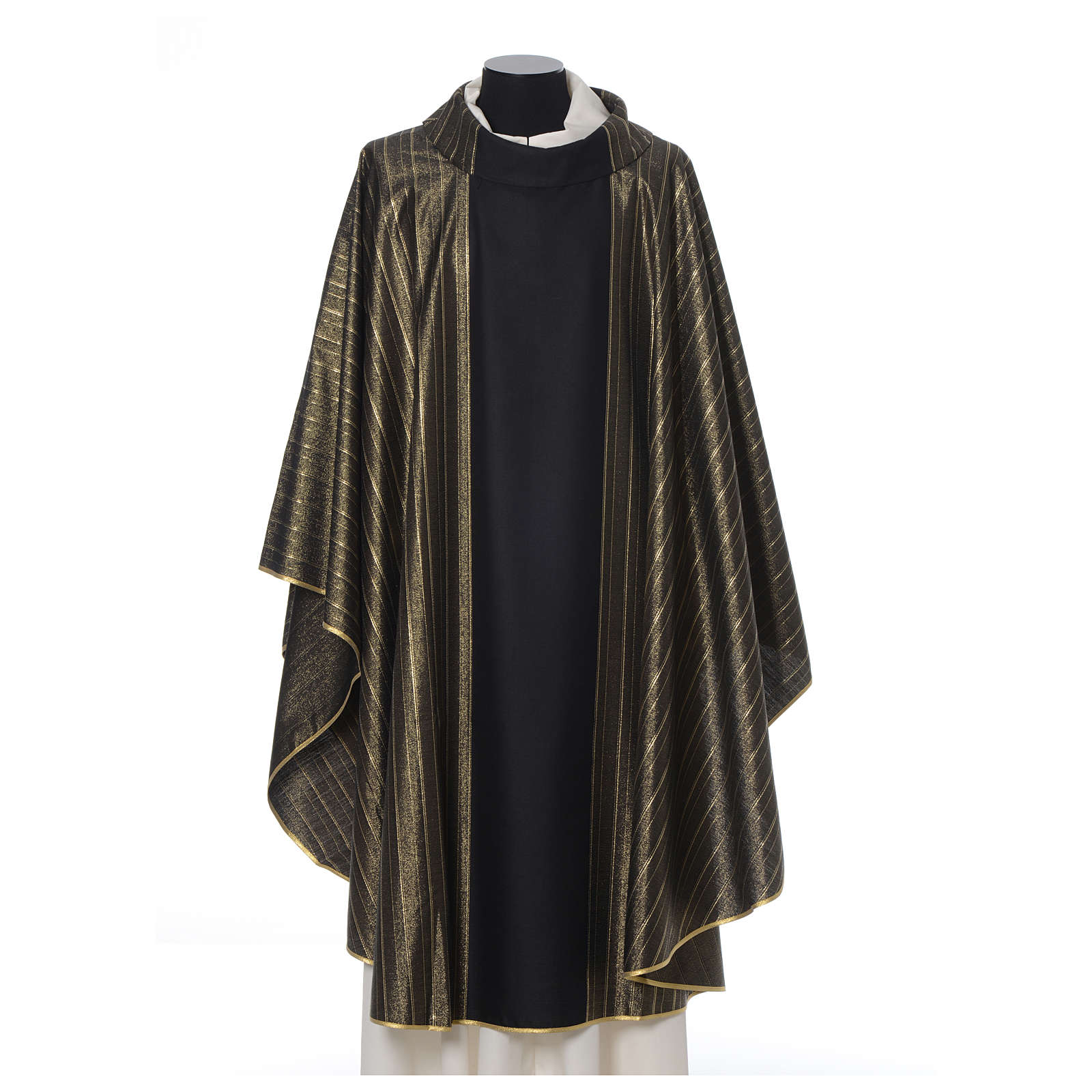 Black Chasuble in pure Tasmanian wool with double twisted yarn 4