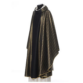 Black Chasuble in pure Tasmanian wool with double twisted yarn s2