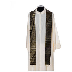 Black Chasuble in pure Tasmanian wool with double twisted yarn s4