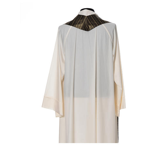 Black Chasuble in pure Tasmanian wool with double twisted yarn 5