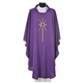 Chasuble croix stylisée avec rayons 100% polyester s3