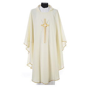Chasuble croix stylisée avec rayons 100% polyester s4