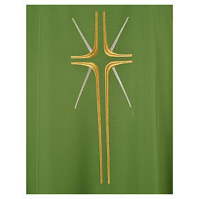 Chasuble croix stylisée avec rayons 100% polyester s6