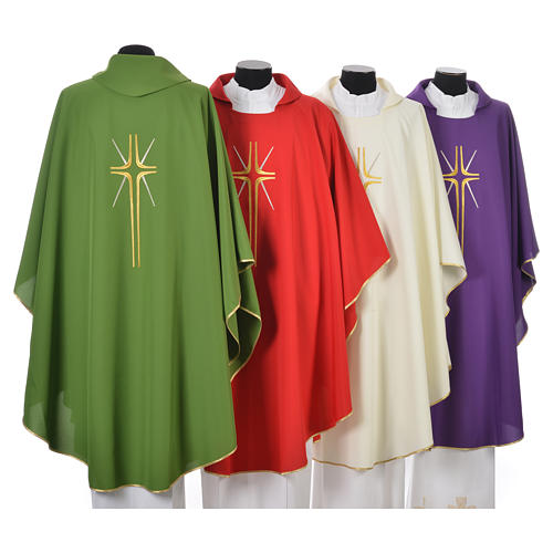 Chasuble croix stylisée avec rayons 100% polyester 2