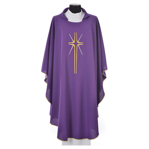 Chasuble croix stylisée avec rayons 100% polyester 3