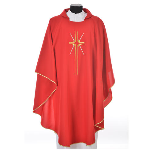 Chasuble croix stylisée avec rayons 100% polyester 5
