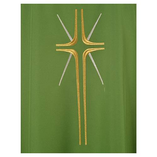 Chasuble croix stylisée avec rayons 100% polyester 6